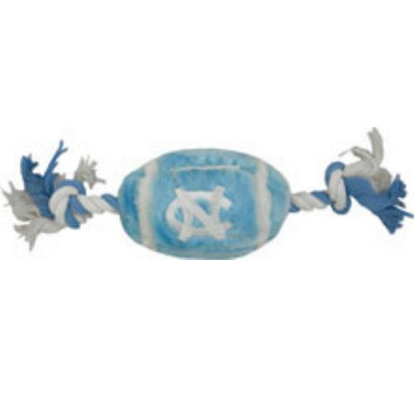 North Carolina Tarheels Plush Football Dog Toy