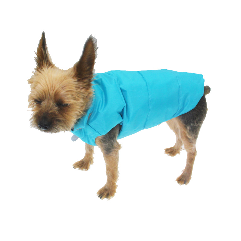 North Paw Vibrant Puffy Dog Vest - Blue