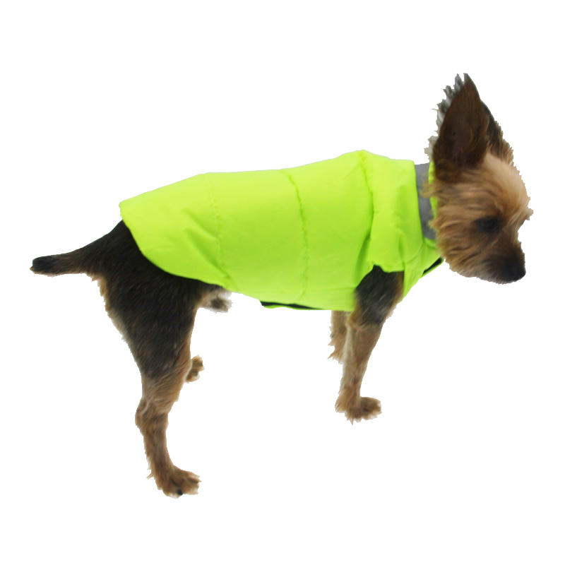 North Paw Vibrant Puffy Dog Vest - Lime