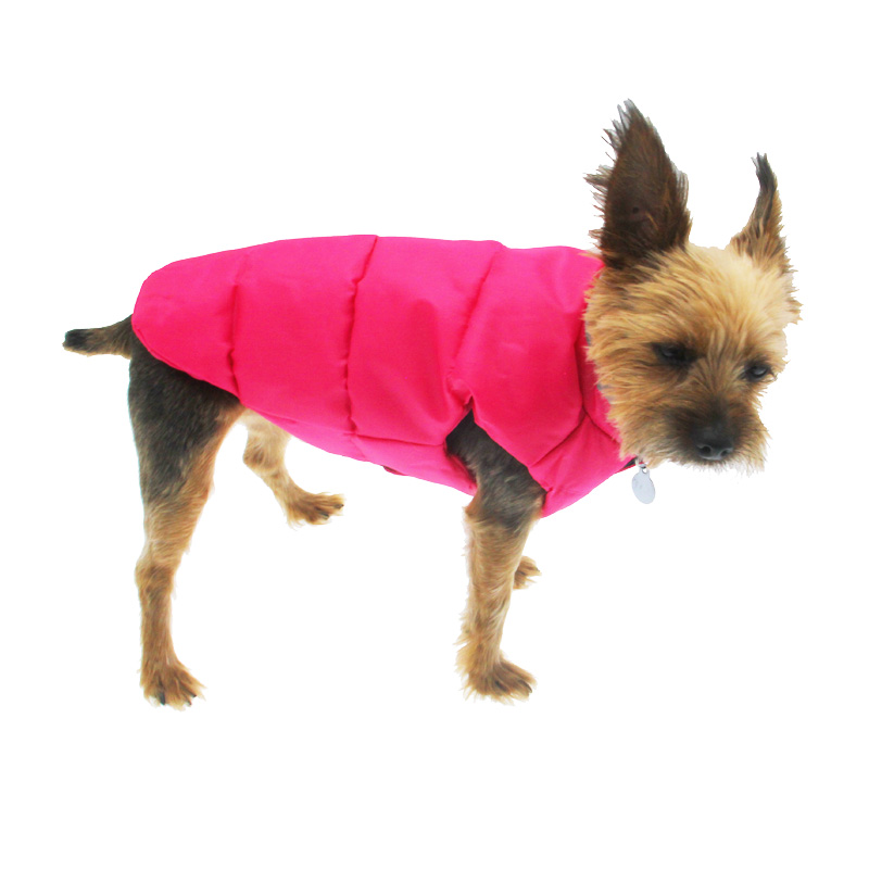North Paw Vibrant Puffy Dog Vest - Pink