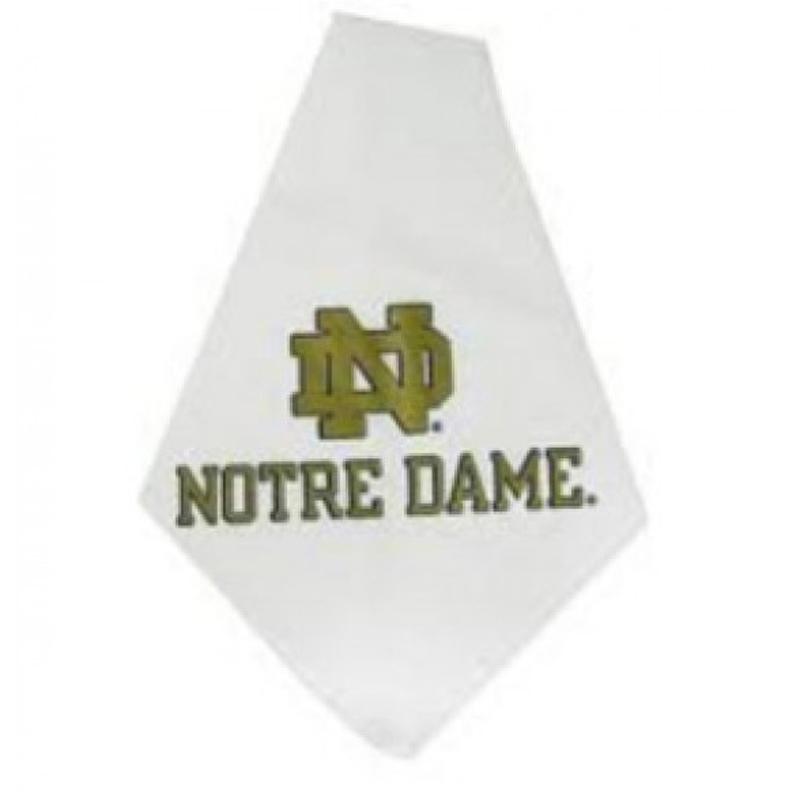 Notre Dame Dog Bandana - White