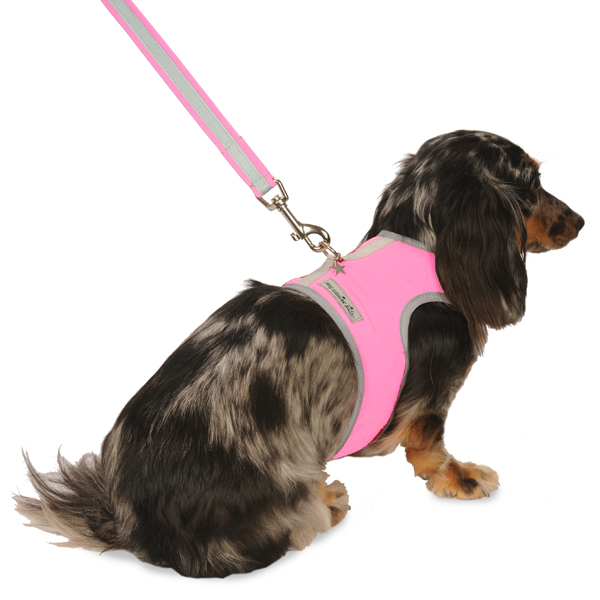 Nylon-Fleece Dog Vest Harness - Hot Pink