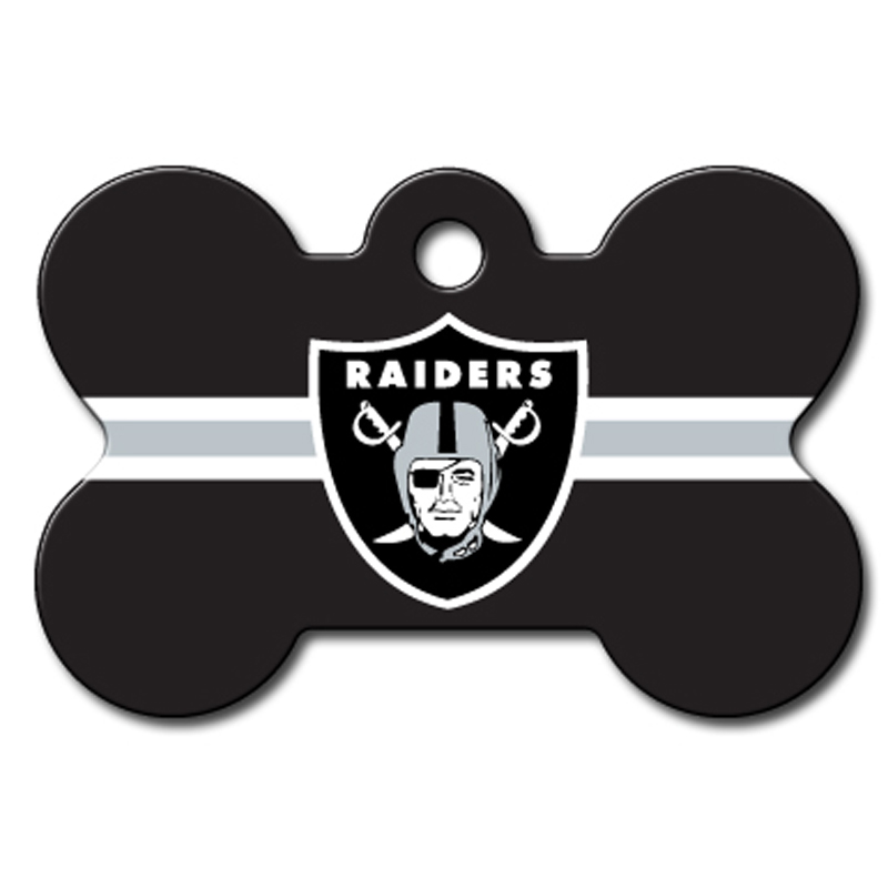 Oakland Raiders Engravable Pet I.D. Tag - Bone