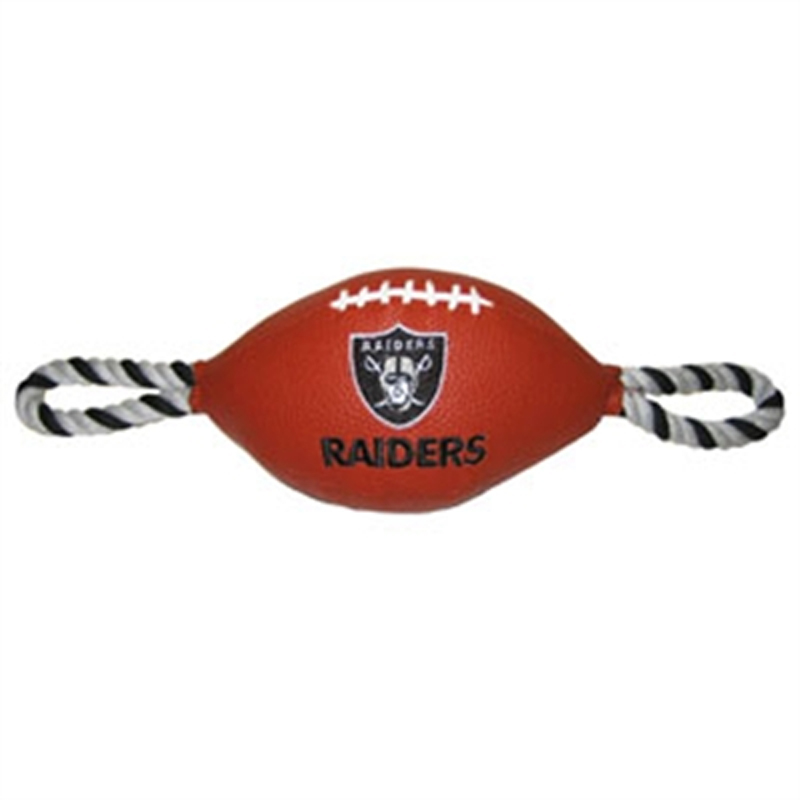 Oakland Raiders Pebble Grain Football Dog Toy