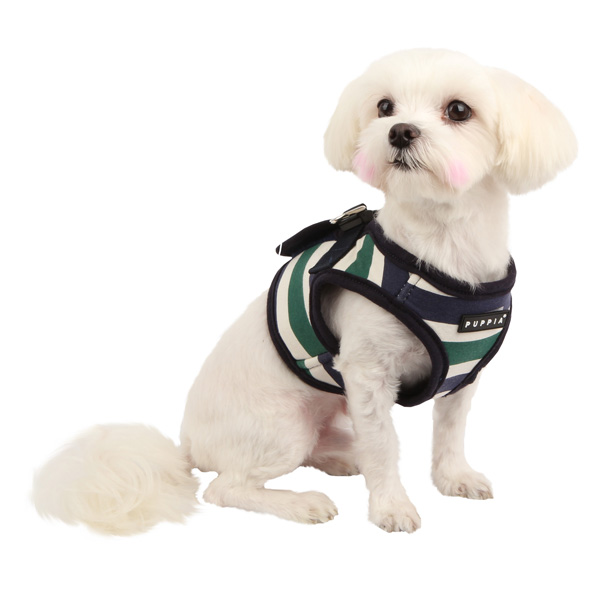Ocean Mist Dog Harness Vest by Puppia - Green