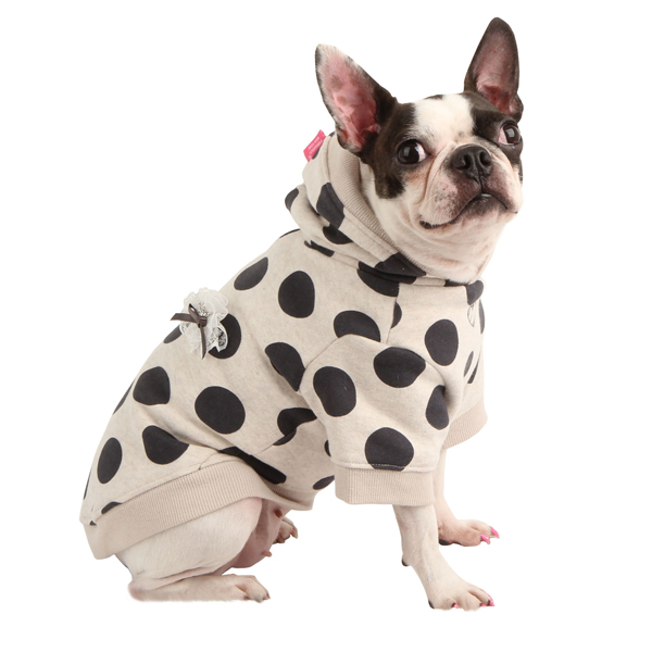 Odette Dog Hoodie by Pinkaholic - Oatmeal