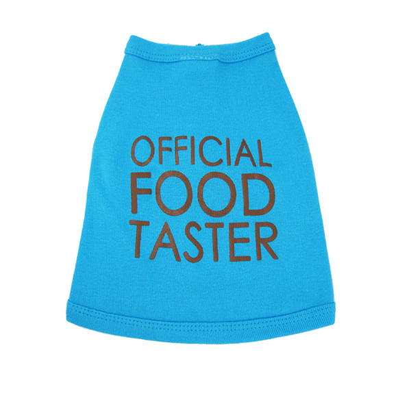 Official Food Taster Dog Tank - Aqua
