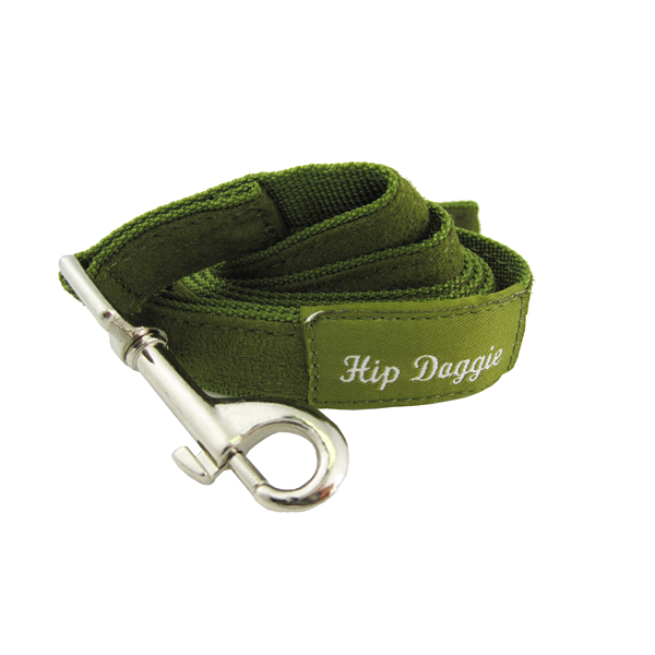 Olive Fur Leash by Hip Doggie