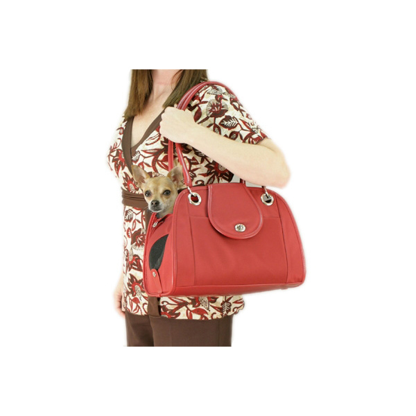 Open Dog Tote - Red