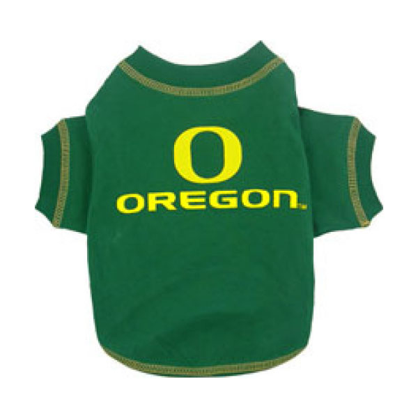 Oregon Ducks Dog T-Shirt - Green