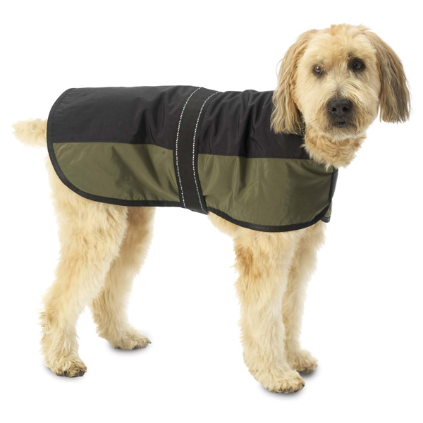 Outback Dog Coat - Black with Olive