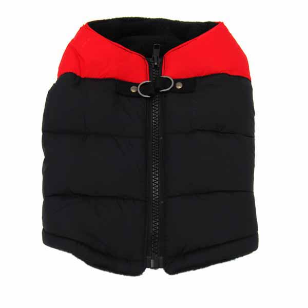 Padded Dog Vest by Gooby - Red/Black