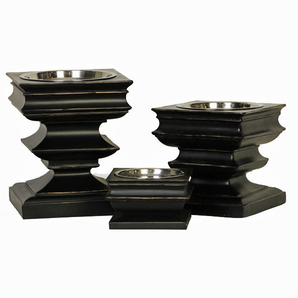 Pagoda Raised Dog Feeder Bowl