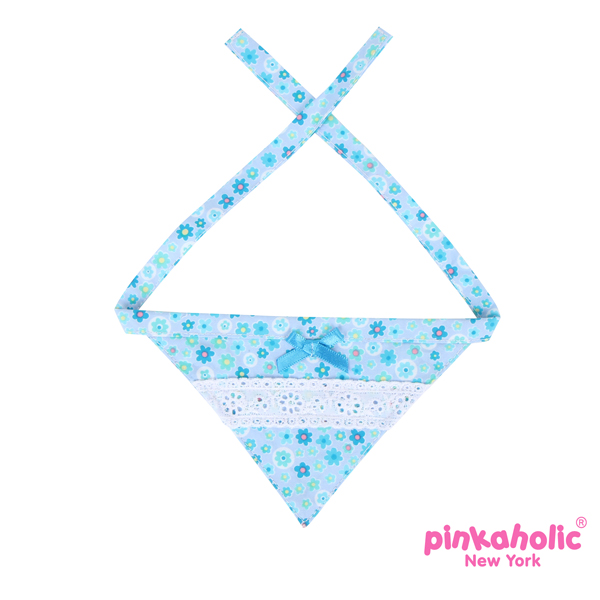 Patches Dog Scarf - Sky Blue