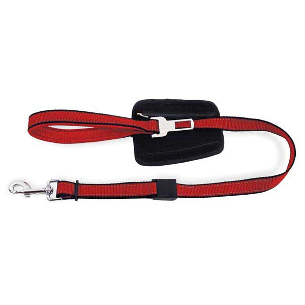 PatentoPet City Dog Leash with Car Adapter - Short Red