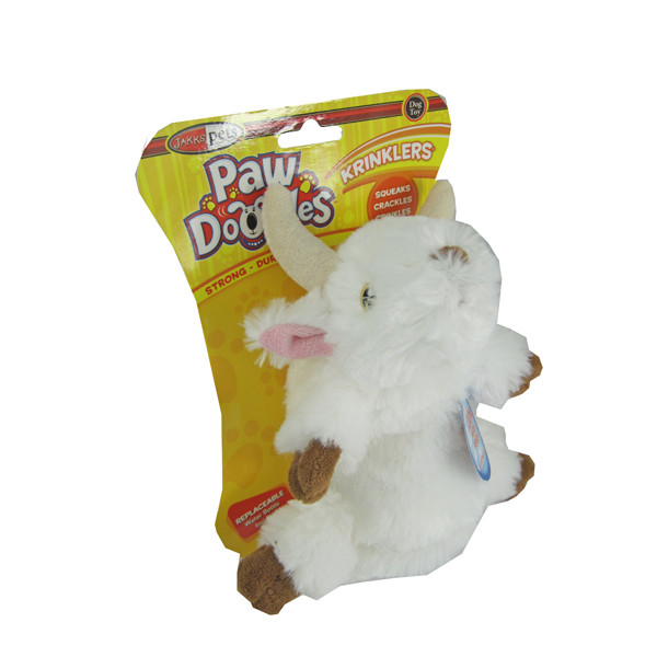 Pawdoodles Krinklers Dog Toy - Goat