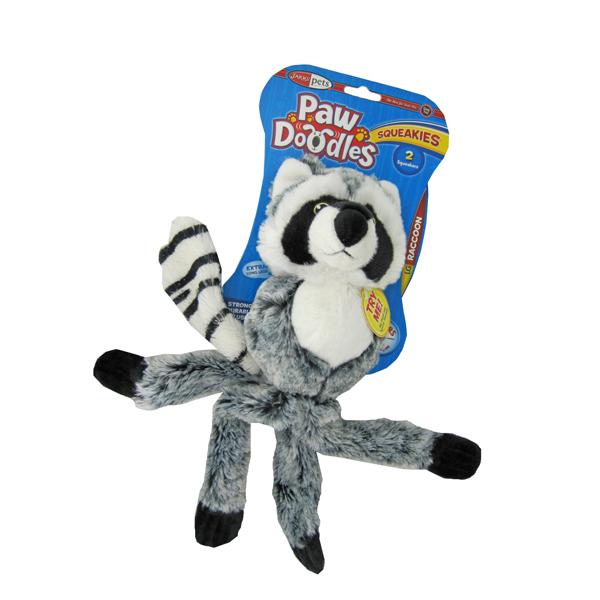 Pawdoodles Squeakies Dog Toy - Raccoon