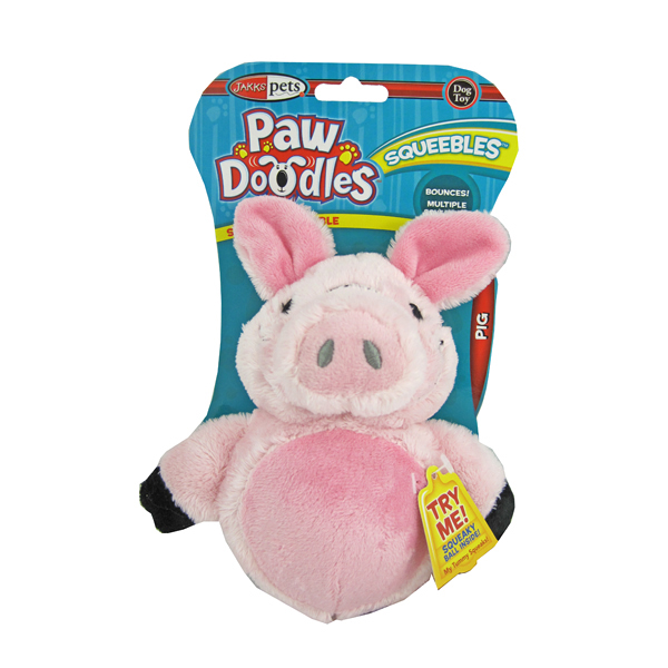 Pawdoodles Squeebles Dog Toy - Pig