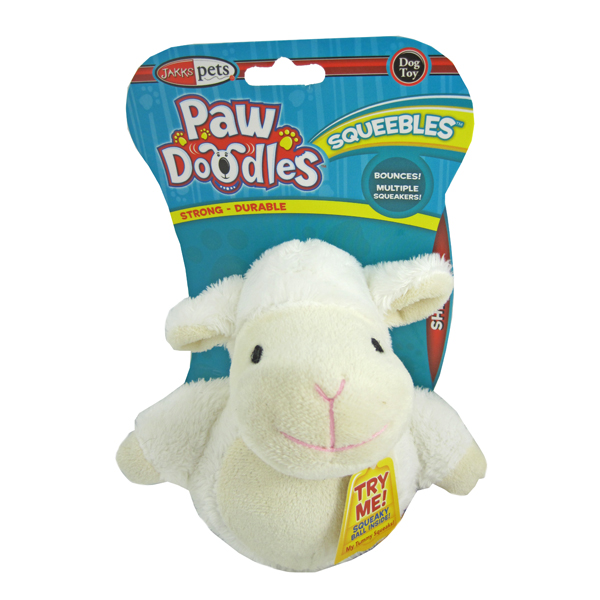 Pawdoodles Squeebles Dog Toy - Sheep