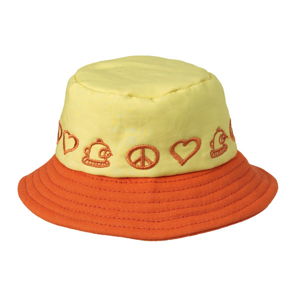 Peace Bucket Hat by Doggles - Yellow/Orange