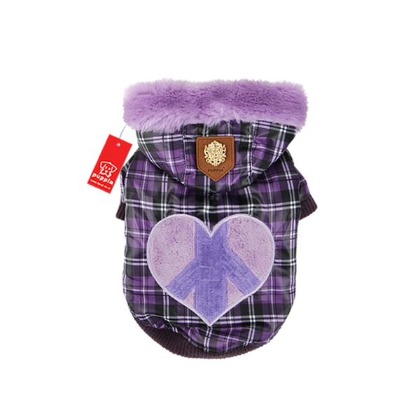 Peace Generation Dog Jacket by Puppia - Purple