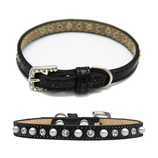 Pearl and Jewel Ice Cream Collar - Black