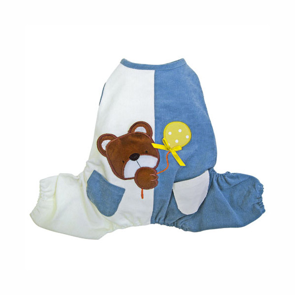 Peek-a-Boo Teddy Bear Dog Jumpsuit by Klippo