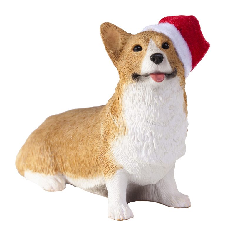 Pembroke Welsh Corgi with Hat Christmas Ornament