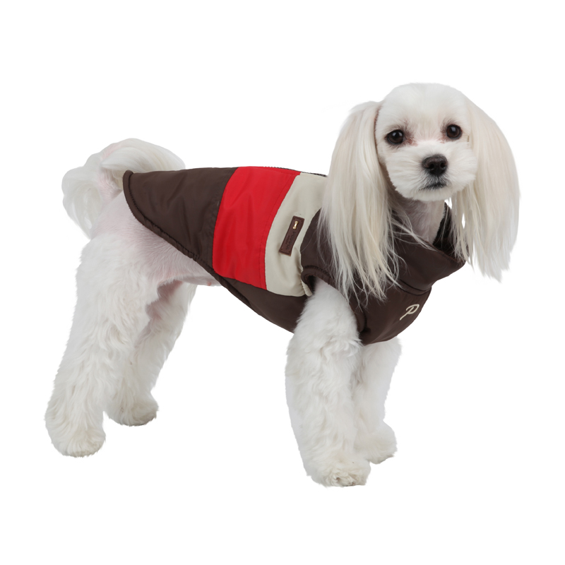 Peppy Dog Coat by Puppia - Brown