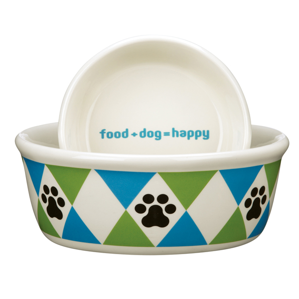 Pet Studio Andover Dog Dishes - Bluebird