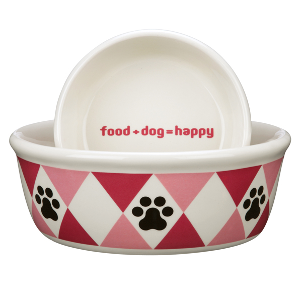 Pet Studio Andover Dog Dishes - Raspberry Sorbet