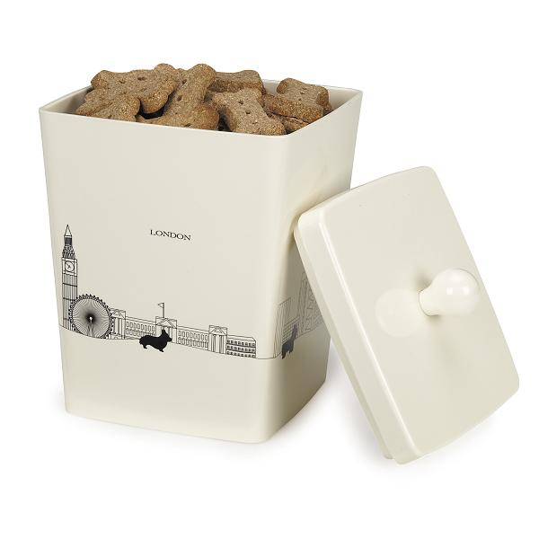 Pet Studio City Dog Melamine Treat Canister - Day Break