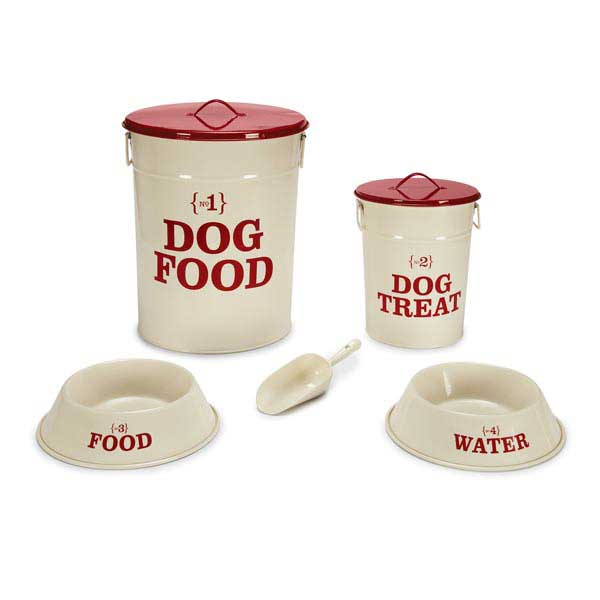 Pet Studio No. 1 Dog Dining Collection - Cream