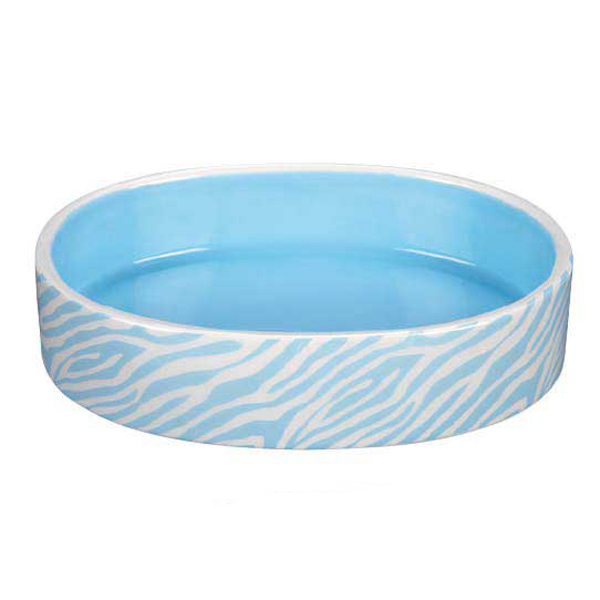 Pet Studio Sweet Safari Cat Dish - Powder Blue
