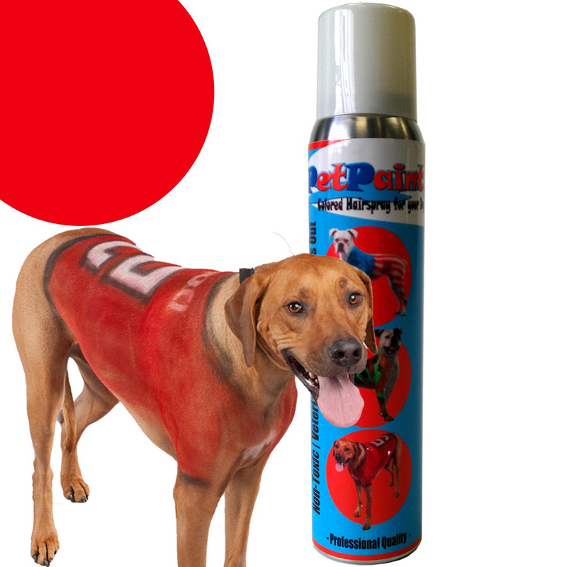 PetPaint Color Dog Hair Spray - Rescue Red