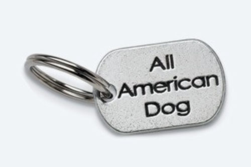 Pewter Dog Collar Charm: All American Dog