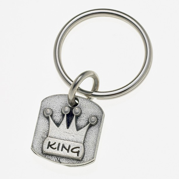 Pewter Pet Lover Keychain - King