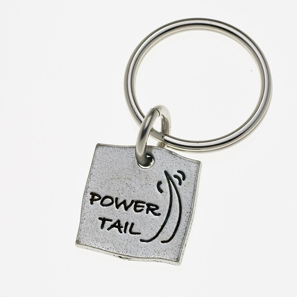 Pewter Pet Lover Keychain - Power Tail