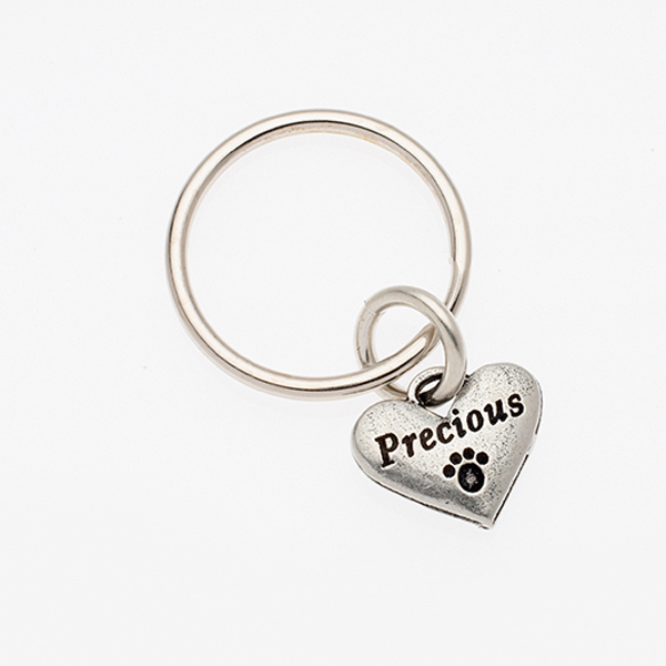 Pewter Pet Lover Keychain - Precious