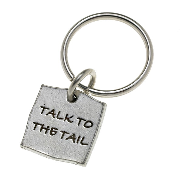Pewter Pet Lover Keychain - Talk to the Tail