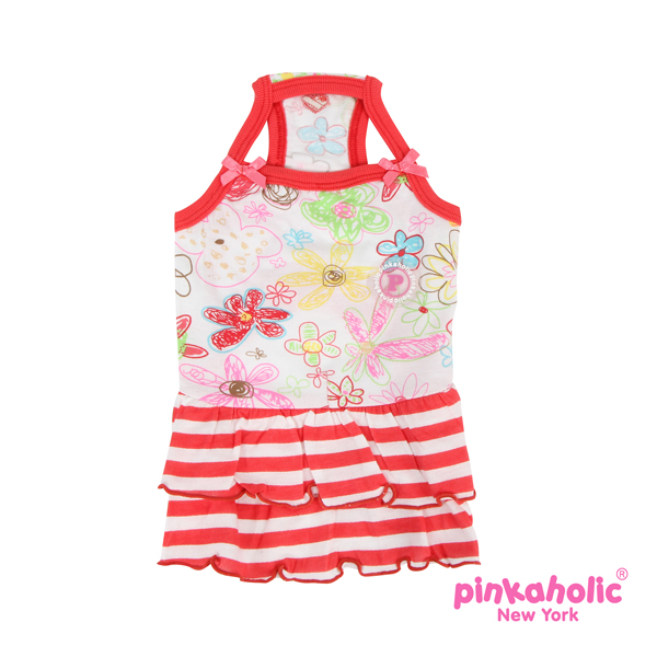 Picnic Dog Dress by Pinkaholic - Red