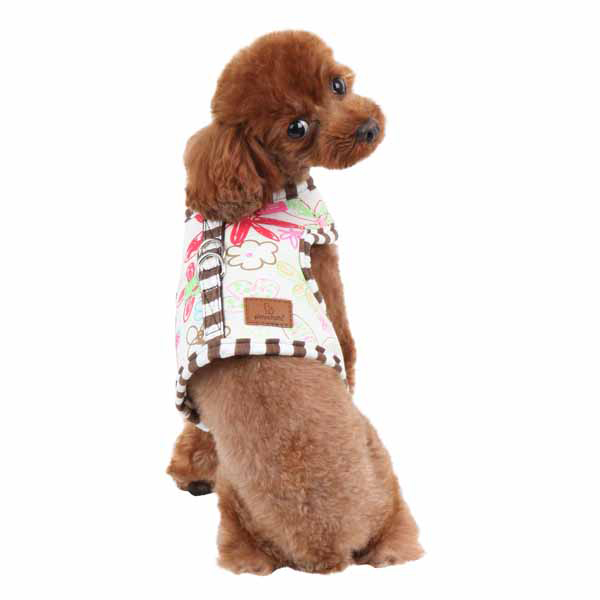 Picnic Pinka Dog Harness by Pinkaholic - Brown