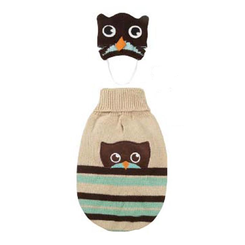 Piggyback Pals Dog Sweater Set - Owl
