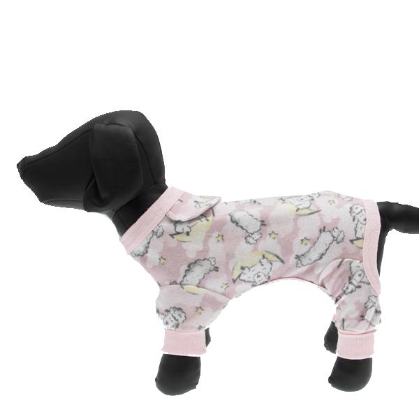 Pink Lambs Fleecy Dog Pajamas