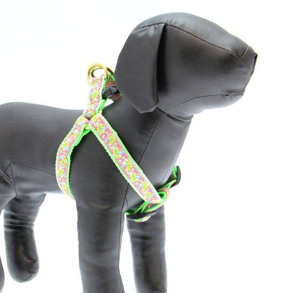 Pink Palms Dog Harness by Up Country