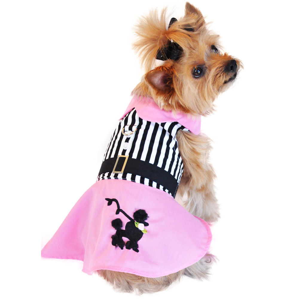 Pink Poodle Designer Dog Harness Dress | BaxterBoo - photo#13