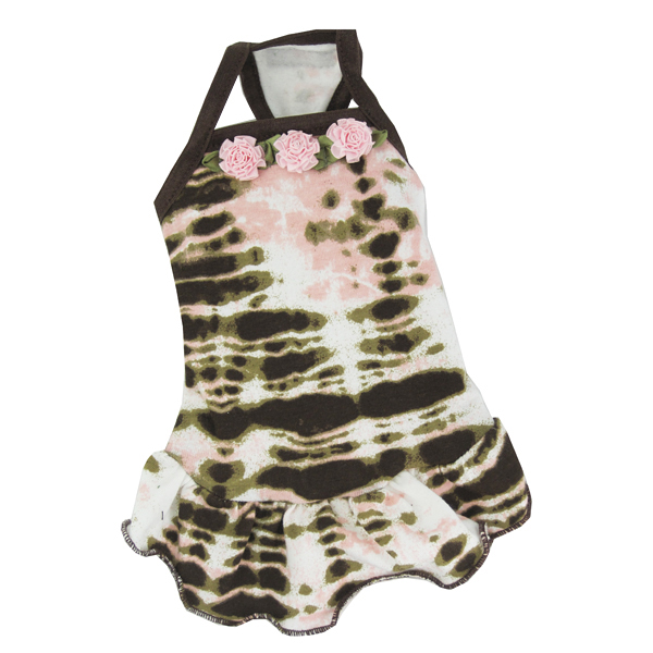 Pink Rose Tie-Dye Dog Dress by Hip Doggie