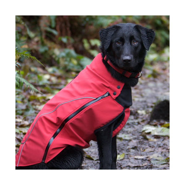 Pioneer Soft Shell Dog Coat - Red
