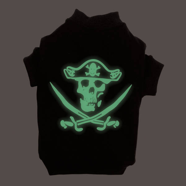 Pirate Glow in the Dark Tee by Casual Canine