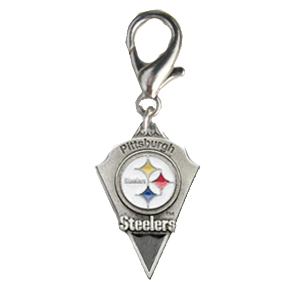 Pittsburgh Steelers Pennant Dog Collar Charm